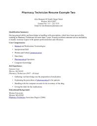 Hospital Pharmacist Resume Cover Letter Pharmacy Technician Job