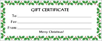 Free Gift Voucher Template For Word Christmas Gift Certificate Template Free Puebladigital Net