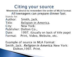 How To Cite Your Sources Using Mla Format Create An