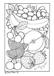無料ダウンロードできる果物フルーツ果実野菜 ぬりえ