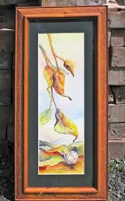 framed and matted this beautiful original watercolour painting tells a story