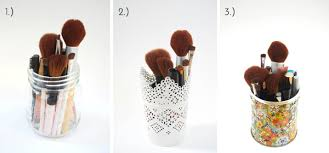 mason jar makeup brush holder. makeup brush holders | michellephan.com mason jar holder j