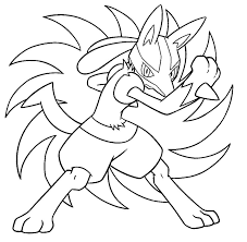 Small Picture Mega Lucario Coloring Pages GetColoringPagescom