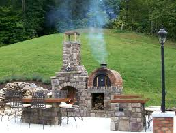 build indoor brick fireplace outdoor fireplaces oven building chimney outside