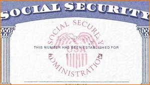 blank social security card template business with fake downl
