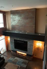 Industrial Downtown Condo Fireplace industrial-living-room