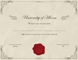 Fake Diploma Template Free Fake Degree Certificate Template 7031 Downloads Free