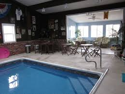 Brilliant Home Indoor Pool With Bar Area And Sunroom Next To For Design Decorating