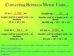 Small Metric Weight The Metric System Day 3 Kilo To Milli Units We Are