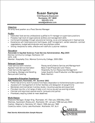 Food Service Experience Resume Food Service Resume Experience Resu Sevte 8