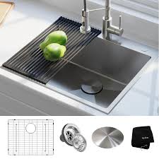 Kraus Standart Pro 25 In X 22 In Stainless Steel Single Basin Drop