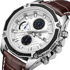 popular men watch brand buy cheap men watch brand lots from megir men watches top brand luxury sport relogio masculino quartz watch erkek kol saati pilot