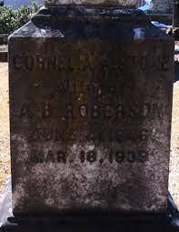 Cornelia A Stone Roberson (1846-1939) - Find A Grave Memorial