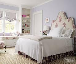 purple and white bedroom. pale iris + aubergine creamy whites purple and white bedroom