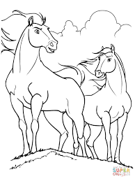 Small Picture Spirit and Rain horses coloring page Free Printable Coloring Pages