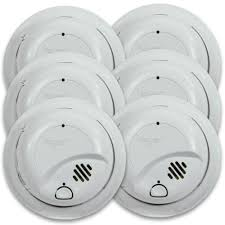 first alert 9120b6cp hardwired smoke alarm with battery backup 6 pack first alert