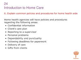 Ppt 1 Explain The Purpose Of And Need For Home Health