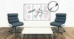 ice hockey rink dry erase wall decal