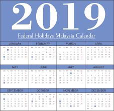 Calendar 2019 Printable With Holidays Free Malaysia 2019 Federal Holidays Calendar Templates Free