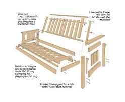 popular wooden frame futon sofa bed craftsman style woodsmith plan woodworking with mattress assembly repurpose canada