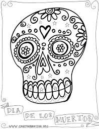 Small Picture Da de los Muertos coloring page Da de los Muertos in Preschool
