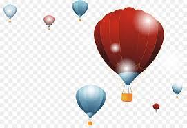 hot air balloon wallpaper hot air balloon decoration background vector