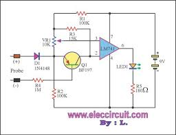 very simple voltmeter ic741 electronic projects circuits very simple voltmeter ic741