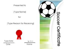 Free Soccer Certificate Templates Free Soccer Certificate Maker Edit Online And Print At Home
