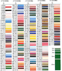 Yli Color Chart Silk Ribbon Embroidery Ribbon Embroidery