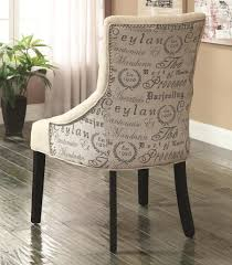 chairs set of 2 accent chairs living room furniture with cream coloured quote patterned chair
