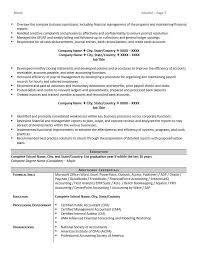 Best Accounting Resumes Resume Sample