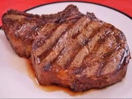 beef rib eye steak boneless lip on separable lean and fat