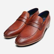 Red Designer Loafers Mens Details About Designer Bugatti Mens Penny Loafers In Brown