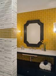 Yellow subway tile Whole Kitchen Yellow Subway Tile Decorpad Yellow Subway Tile Contemporary Bathroom Lizette Marie Interiors