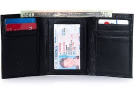 Alpine Swiss <b>Mens Trifold</b> Wallet <b>Genuine Leather</b>