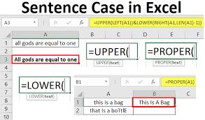 sentence case in excel top 3 easy