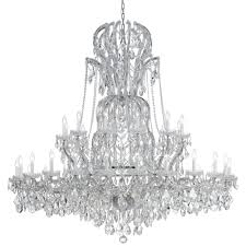 crystorama maria theresa 37 light clear crystal chrome chandelier