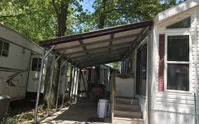 free standing metal lean to