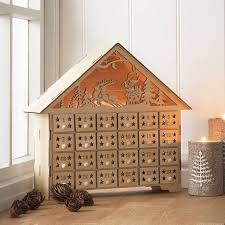 advent calendar with battery operated lights a beautifully refined piece of decoration made from