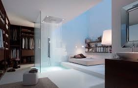 master bedroom with open bathroom. Shower Bedroom Master With Open Bathroom O