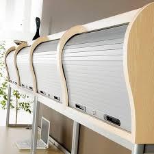 wall mounted wooden tambour door