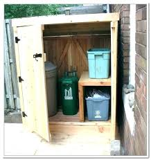 garbage can storage trash enclosure plans ideas outdoor kitchen bin shed p wooden