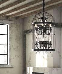 new restoration hardware replica antique iron crystal birdcage chandelier 1640