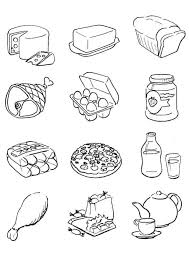 Small Picture pictures of food to color food coloring sheets food to color