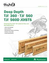 Tji 560 Span Chart Specifiers Guide For Deep Depth Tji 360 560 And 560d