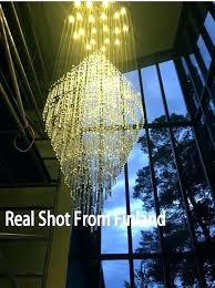royal blue crystal chandelier light fixture long large lamp for staircase re stairs foyer small ligh