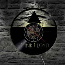 group pink floyd wall art decorative make from vinyl record wall light led black light color changing wall clocks personalized wall clocks pink wall