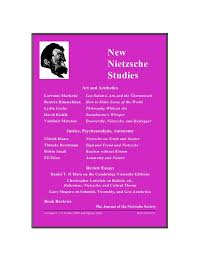 new nietzsche studies featuring a prefatory essay by horst hutter on pierre hadot the 2009 section features lorraine markotiauml135 on lou salomatildecopy beatrix himmelman among others and
