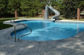 backyard pool with slides. Residential Swimming Pool Slides. Backyard Backyard Pool With Slides