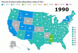 Is My Child Obese Chart Us Obesity Levels By State Obesity Procon Org